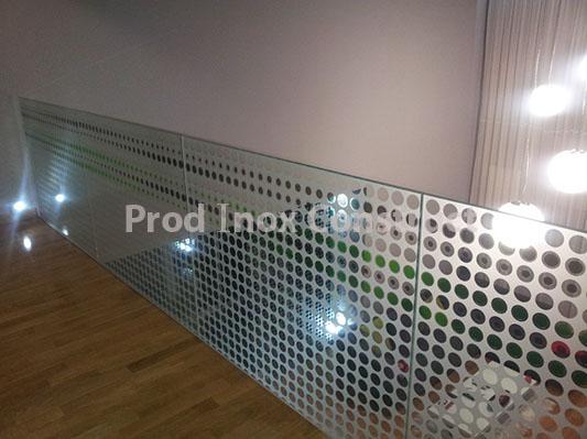 balustrade inox cu sticla